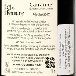 Domaine Clos Romane - Cairanne 2017